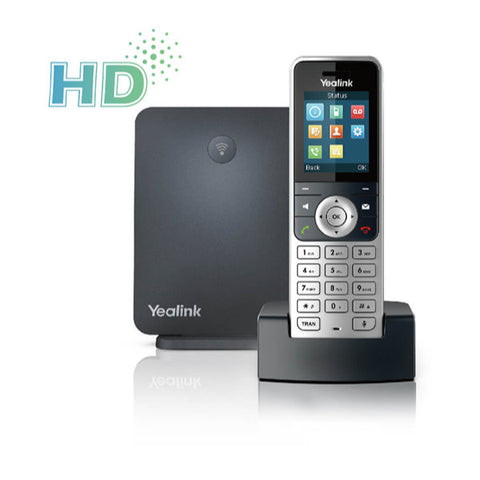 Yealink W53P Wireless DECT (Digital enhanced cordless Telephone) IP Phone package including W60B Base