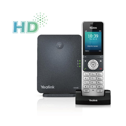 Yealink W60P Wireless DECT (Digital enhanced cordless Telephone) IP Phone package including W60B Base