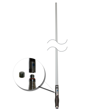 RFI CDQ5000-B Bullbar Q-Fit UHF CB 477Mhz Collinear Antenna 1010mm - B/W