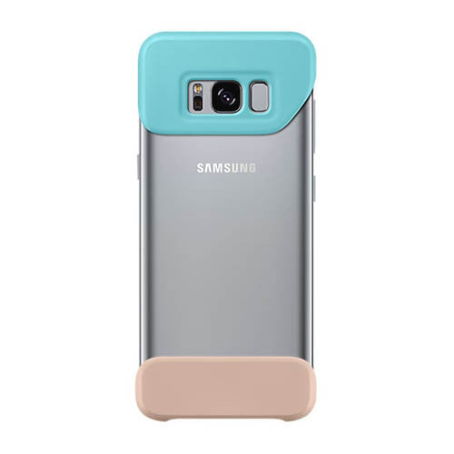 2-Piece Back Cover case for Samsung Galaxy S8 -Blue