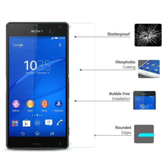 CoolReall™ For SONY Xperia Z3 L55T Tempered Glass Screen Protector Film with Blu
