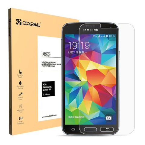 CoolReall™ Samsung Galaxy S5 Tempered Glass Screen Protector Film with Blue Light Protection