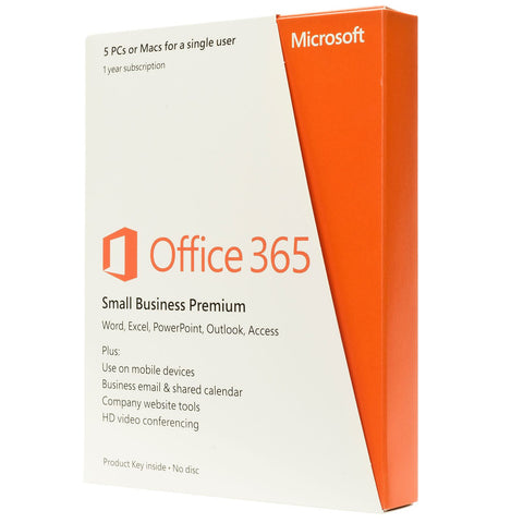 Microsoft Office 365 Business Premium 5 PCs or Macs, 5 tablets and 5 phones 1 Ye