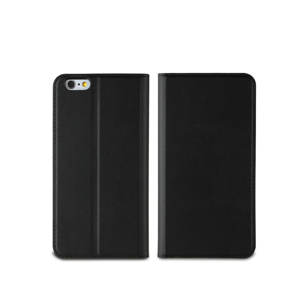 Muvit Black Wallet Folio Stand Case 3 Card Slots Apple Iphone 6/6S