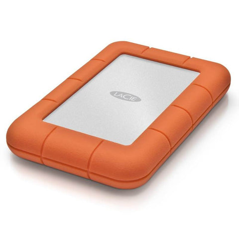 LaCie 1TB/2TB/4TB Rugged USB-C Portable Hard Drive
