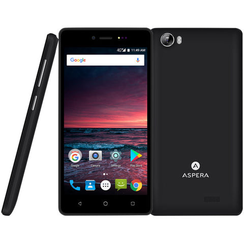 "Aspera A50 5"" HD 5MP 4G/LTE FM radio Android 7.0 Smartphone unlocked AU warranty"