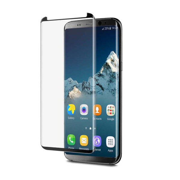 EFM Curved Glass Screen Armour For Galaxy S8+-Black / Clear
