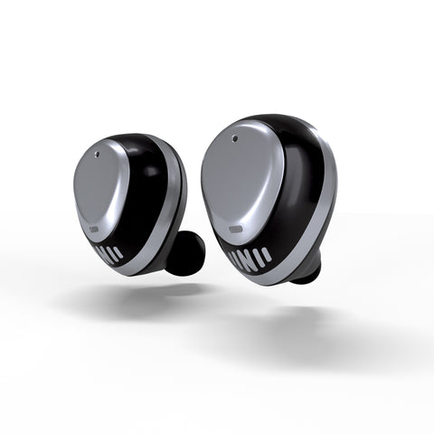Nuheara IQbuds Intelligent True Wireless Earbuds  With SINC world control..-Black