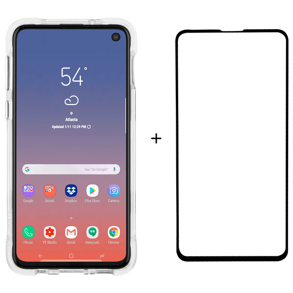 Case-Mate Tough Clear and SG Bundle For Samsung Galaxy S10e-Clear