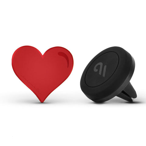 Case-Mate Car Charm with Magnetic Car Mount Red Heart-Red