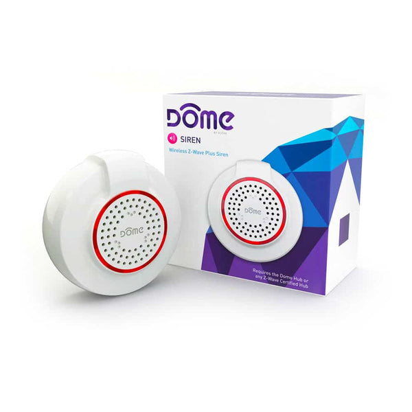 DOME Z-Wave Wireless Siren for SmartHome Hub Notification