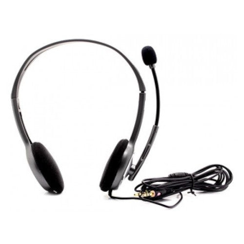 Logitech H110 Stereo Noise-Cancelling 3.5mm dual plug Computer Headset