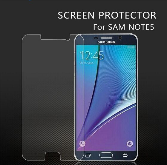 CoolReall™ For Samsung Galaxy Note 5 Tempered Glass Screen Protector with Blue L