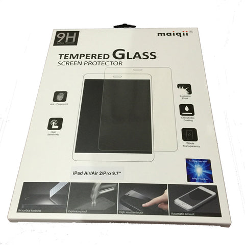 "MaiQii™ Apple iPad, iPad Air, iPad Air 2 & iPad Pro 9.7"" Tempered Glass Screen Protector with Blue-light filter"