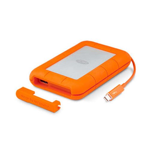 "LaCie Rugged 2.5"" 1TB or 2TB Thunderbolt USB 3.0 External Portable Drive for PC"