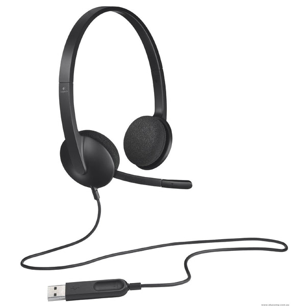 Logitech H340 USB Noise Canceling Computer Headset with Mic with digital audio