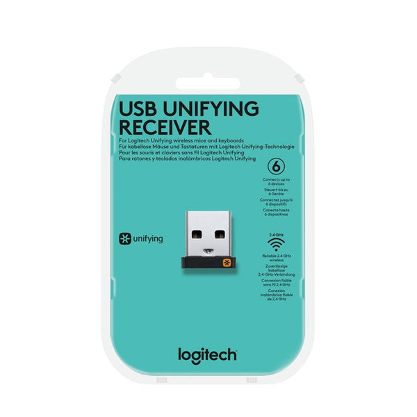 Logitech USB unifying receiver for Unifying up to 6 wireless mouse or keyboard