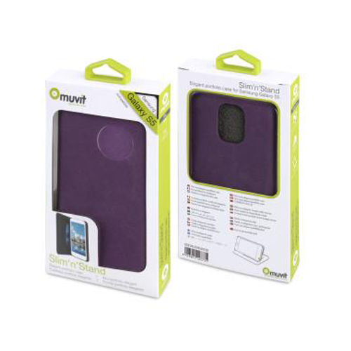 Muvit MUSNS0038 Slim'n' Stand Case for Samsung Galaxy S5 Purple