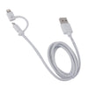 Muvit Dual Plug 2.1A MFI Sycn Cable Micro USB and Lightning plug