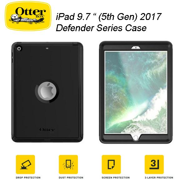 new product deb12 b829d Details about Otterbox Defender rugged case for iPad 2017/ 2018 9.7 inch  (5th Gen / 6th Gen)