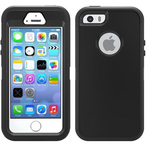 "iPhone 5 5s SE(4"") Heavy duty Defender style rugged shockproof case"