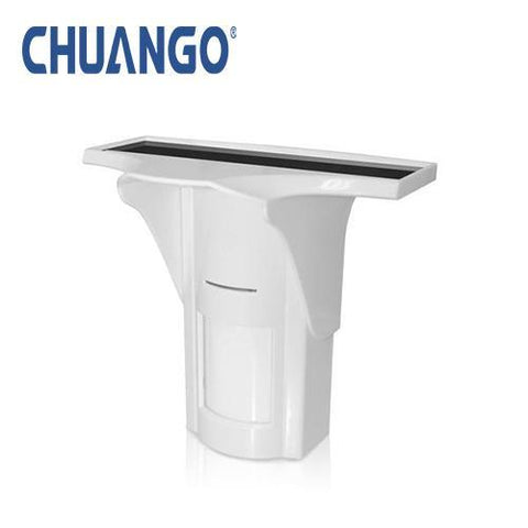 CHUANGO Wireless solar powered outdoor dual technology PIR motion sensor
