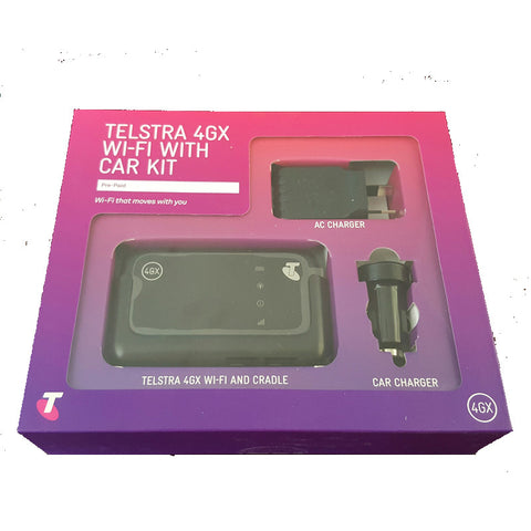 Telstra 4GX Wi-Fi with Car Kit MF910V Mobile Hotspot with 2GB data