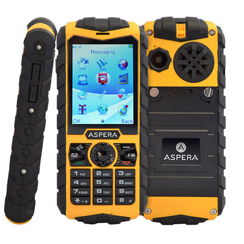 Aspera R25T Rugged Triband 3G IP68 weather-proof 400hour standby Mobile Phone