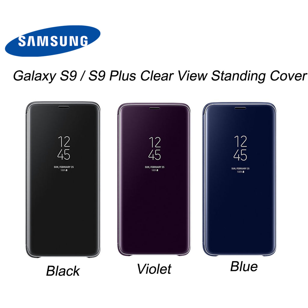 big sale b5497 38952 Samsung Galaxy S9 / S9 Plus Clear View Flip Cover Stand