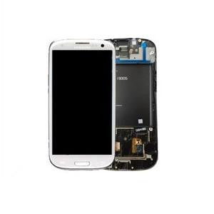 Samsung Galaxy S3 i9305 LCD and Touch Screen Assembly with Frame [White]