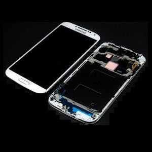 Samsung Galaxy S4 i9500 LCD and Touch Screen Assembly with Frame [White]