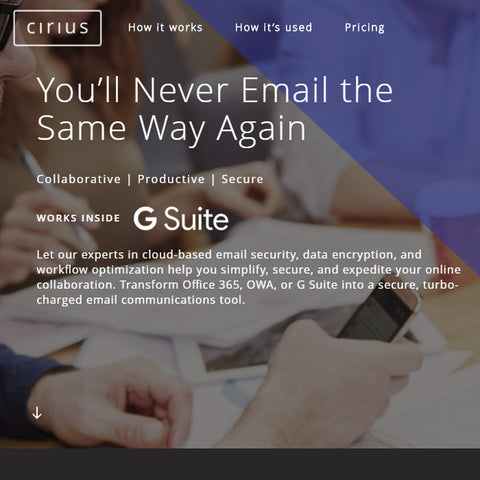 Cirius 365 email Encryption, for first 5 users (monthly subscription)