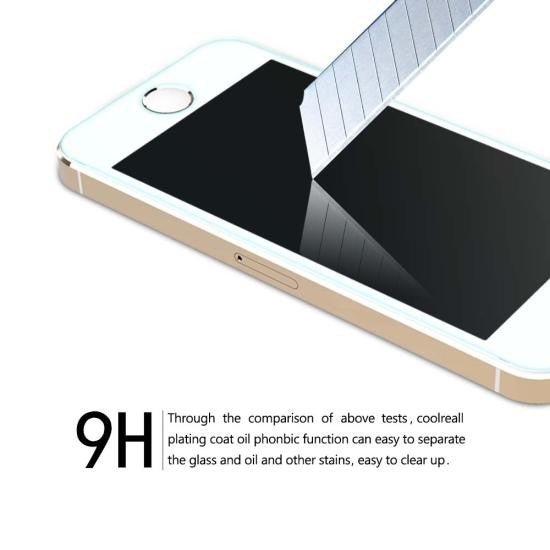 CoolReall™ For Apple iPhone 5/5S/5C Tempered Glass Screen Protector Film with Blue Light Protection