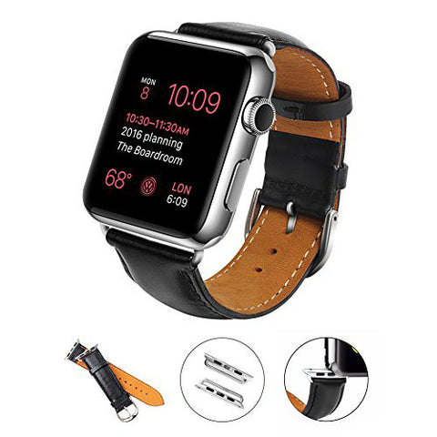 38mm Leather Band with Link for Apple Watch