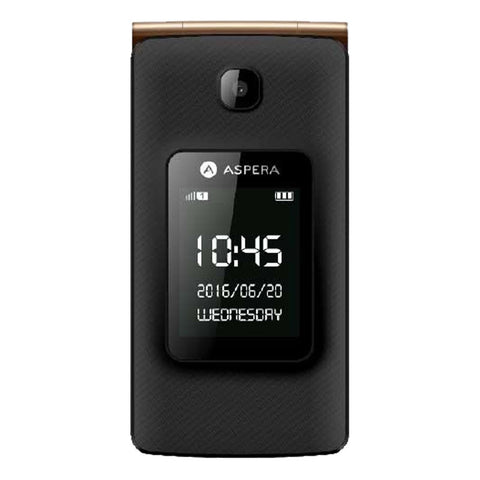 Aspera F24 (3G/Next G, Flip Phone) - Black Gold