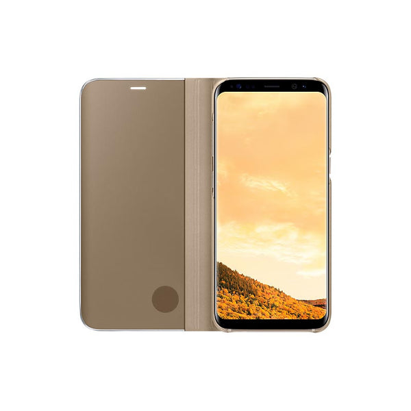 Clear View Flip Cover Stand for Samsung Galaxy S8