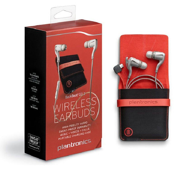 Plantronics BackBeat GO 2 wireless earbuds with Charge Case