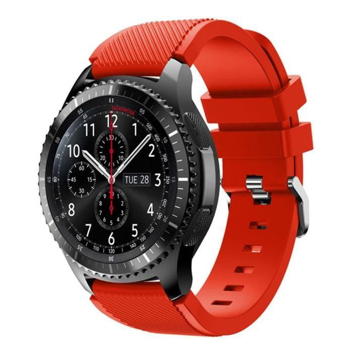 new arrival 7a710 835ca Details about Original Samsung Gear S3 Silicon waterproof Strap Frontier &  Classic Watch Band