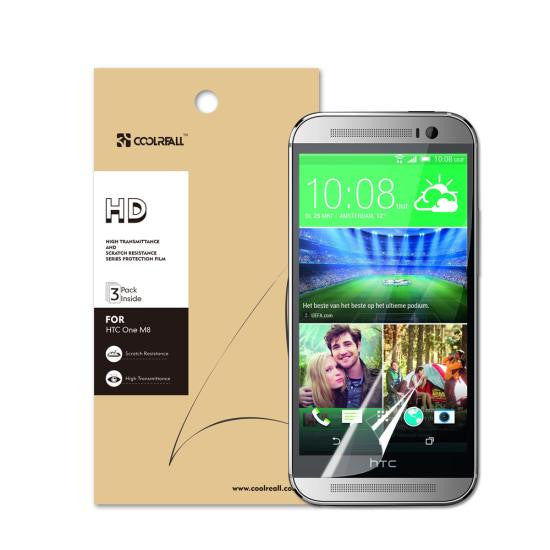 CoolReall™ HTC One M8 High Defintion (HD) Clear Screen Protectors