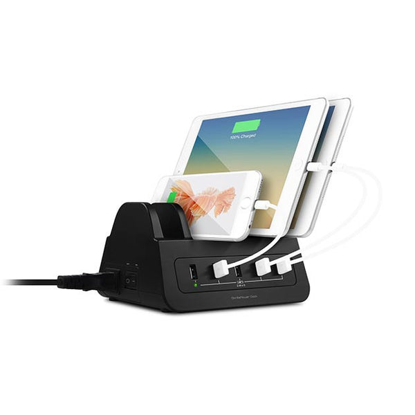 Gorilla Power Dock 5-Port 60W USB Charging Dock With 2 Way Power Socket