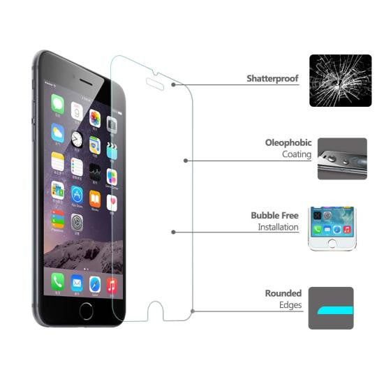 "Maiqii™ iPhone 7 Plus 5.5"" Tempered Glass Screen Protector Film (0.33mm) with Blue Light Reduction"