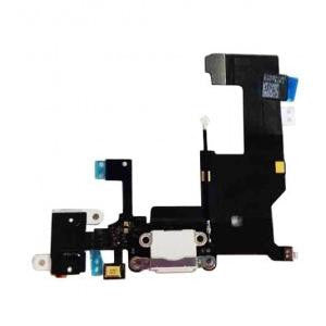 iPhone 5S charging port and audio flex cable [White]