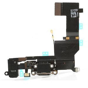 iPhone 5 charging port and audio flex cable [Black]