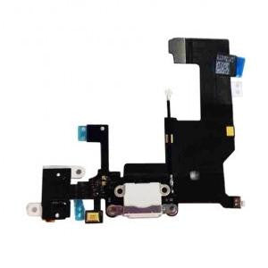 iPhone 5 charging port and audio flex cable [White]