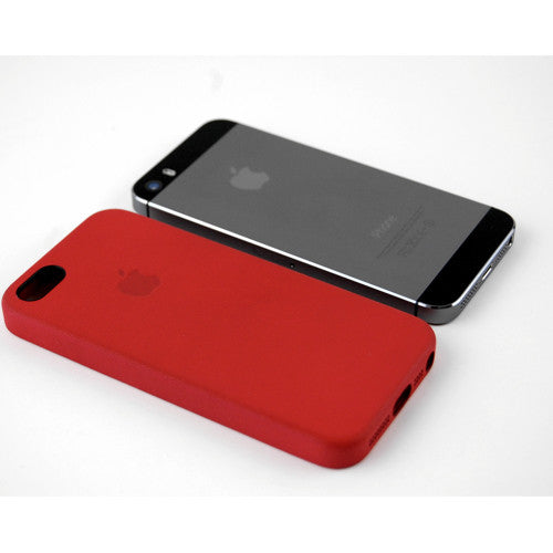 "Original Apple (PRODUCT)Red Leather Case For iPhone 5 5s SE (1st GEN) 4"" in sealed retail package"