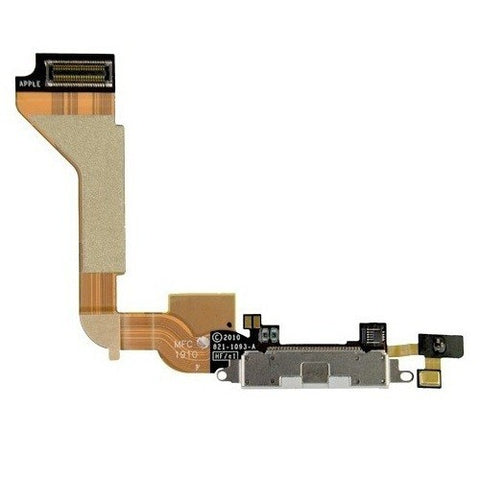 iPhone 4S charging port flex cable with microphone [White]