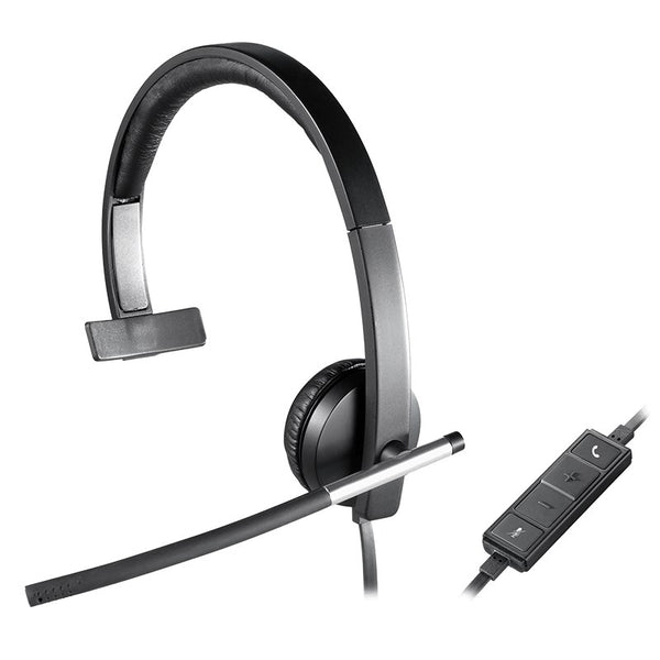 Logitech H650e Business Mono Noise-Cancelling USB plug Computer Headset for zoom skype