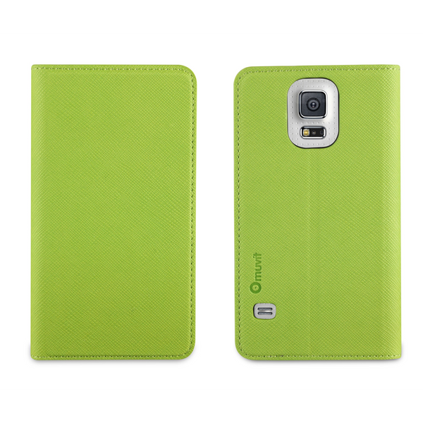 Muvit MUSNS0037 Slim 'n' Stand Case for Samsung Galaxy S5 Green