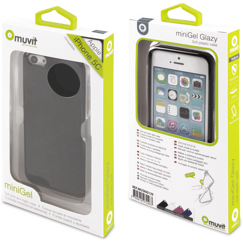 Muvit MUSKI0139 MiniGel case for iPhone 5C Black