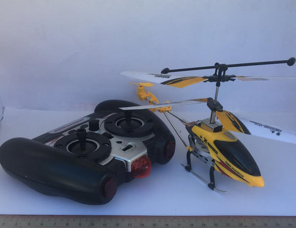 FlyingHigh 2 Channel RC Helicopter Drone with Gyro - Yellow